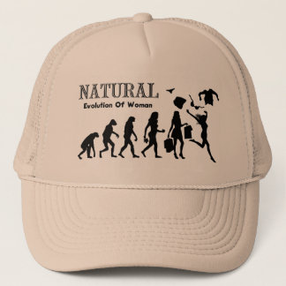 Evolution Of Liberated Woman (Naturist Woman) Trucker Hat