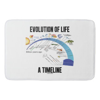 Evolution Of Life A Timeline Biology Bathroom Mat