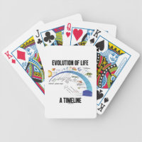 Evolution Of Life A Timeline (Biology) Bicycle Playing Cards