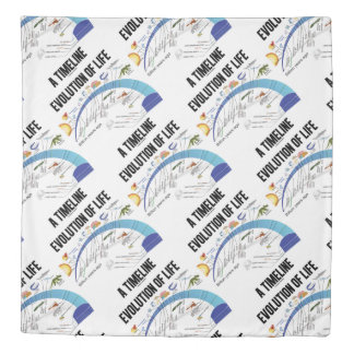 Evolution Of Life A Timeline Biology Duvet Cover