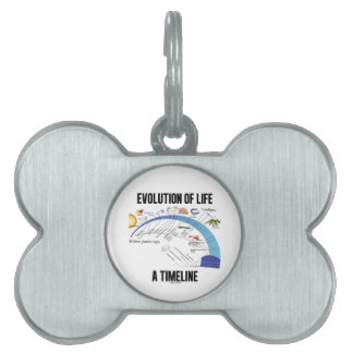 Evolution Of Life A Timeline Biology Pet ID Tag