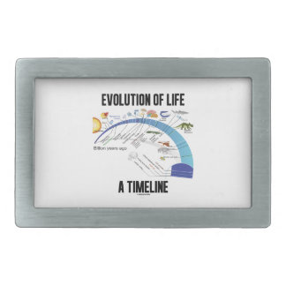 Evolution Of Life A Timeline (Biology) Rectangular Belt Buckle