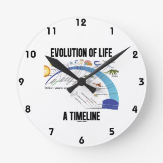 Evolution Of Life A Timeline (Biology) Round Wall Clock