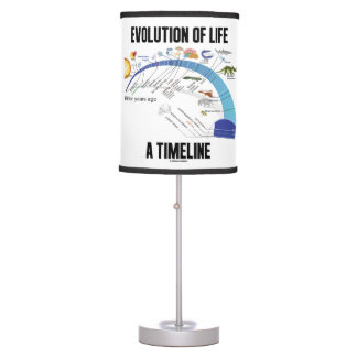 Evolution Of Life A Timeline Biology Table Lamp
