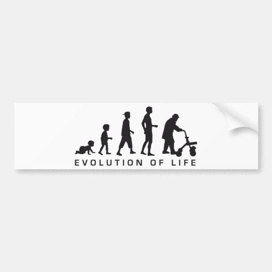 evolution OF life Bumper Sticker