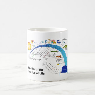 Evolution of Life on Earth Timeline Diagram Classic White Coffee Mug