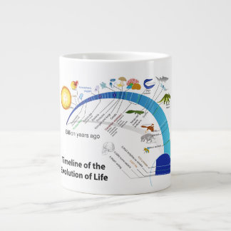 Evolution of Life on Earth Timeline Diagram Giant Coffee Mug
