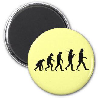 Evolution of Man 2 Inch Round Magnet