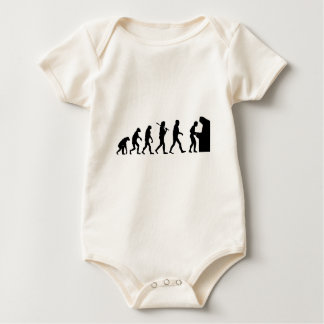 Evolution of Man Baby Bodysuit