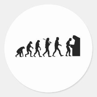 Evolution of Man Classic Round Sticker
