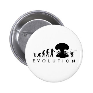 Evolution of Man & Cockroach Funny Evolution Chart Button