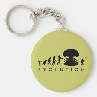 Evolution of Man & Cockroach Funny Evolution Chart Keychain