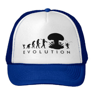 Evolution of Man & Cockroach Funny Evolution Chart Trucker Hat