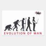 evolution of man controlling drone aufkleber