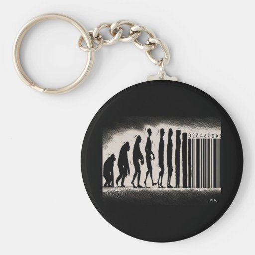 Evolution of Man Design - Mark of The Beast Key Chains