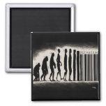 Evolution of Man Design - Mark of The Beast Magnet