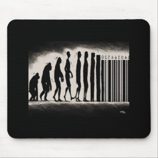 Evolution of Man Design - Mark of The Beast Mouse Pad