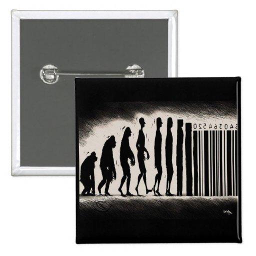 Evolution of Man Design - Mark of The Beast Pin