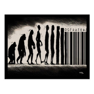 Evolution of Man Design - Mark of The Beast Postcard