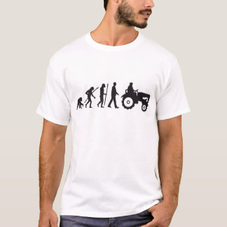 Evolution of man farmers with tractor T-Shirt