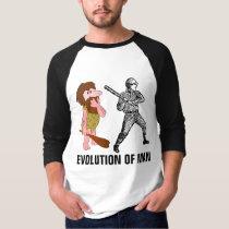 Evolution of Man, Funny Baseball T-shirts