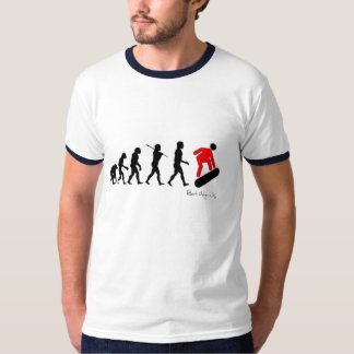 Evolution of Man into a Snow Boarder T-Shirt