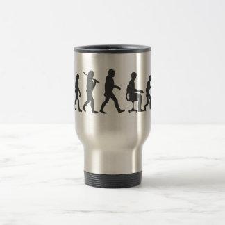Evolution of Man Laptop 15 Oz Stainless Steel Travel Mug