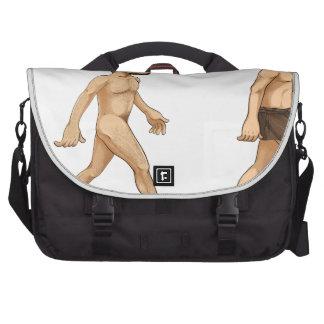 Evolution of man laptop computer bag