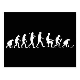 Evolution of Man Laptop Postcard