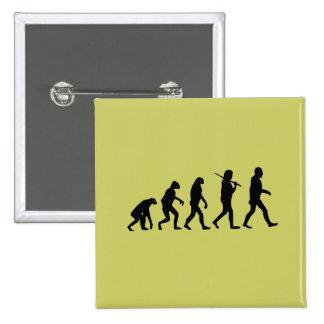 Evolution of Man Pinback Button