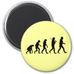 Evolution of Man Refrigerator Magnet