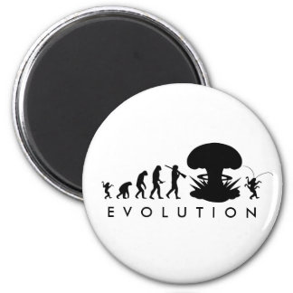 Evolution of Man - Rise of the Cockroach 2 Inch Round Magnet
