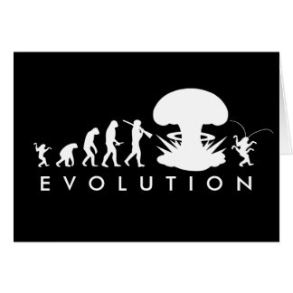 Evolution of Man - Rise of the Cockroach Greeting Card