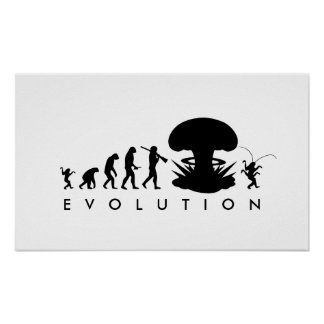 Evolution of Man - Rise of the Cockroach Poster