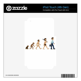 Evolution of man iPod touch 4G skins