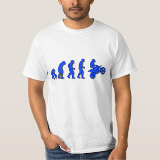 Evolution of man to motorcycle tee shirt