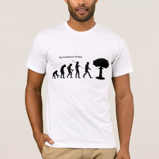 Evolution of Man (White) Sattrical T-Shirt
