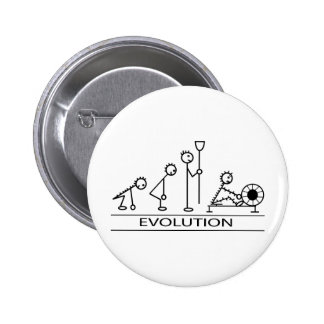Evolution of man with rowing 2 inch round button