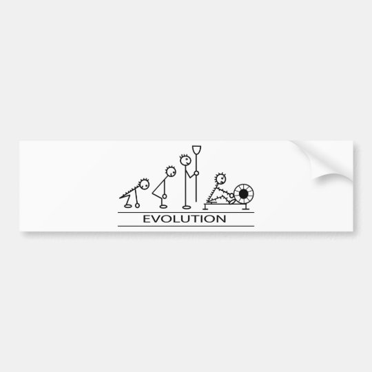Evolution of man with rowing bumper sticker