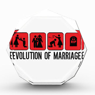 Evolution of Marriage Acrylic Award