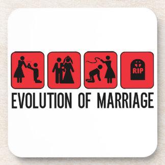 Evolution of Marriage Beverage Coaster