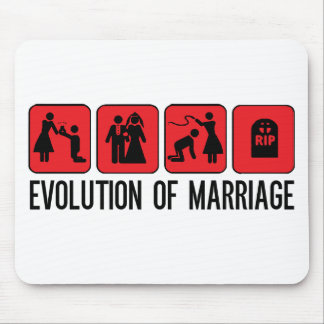 Evolution of Marriage Mouse Pad