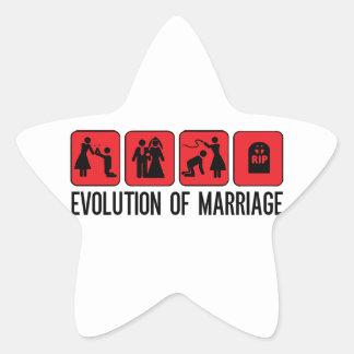 Evolution of Marriage Star Sticker