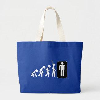 Evolution of Men Large Tote Bag