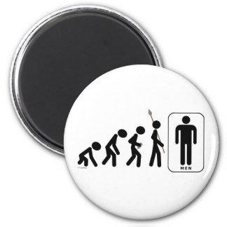 Evolution of Men Refrigerator Magnet