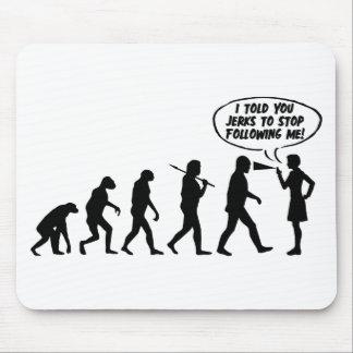 Evolution Of Men & Women Pepper Spray Mouse Pad