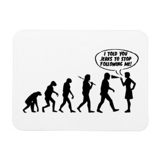 Evolution Of Men & Women Pepper Spray Rectangular Photo Magnet