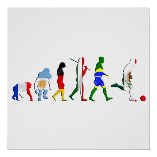 Evolution of Mexican Futbol soccer fans gifts Poster