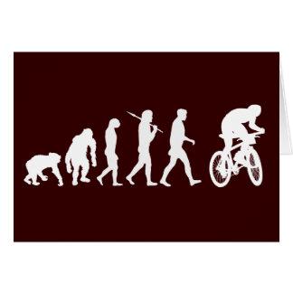Evolution of mountain biking mountain bikers greeting cards