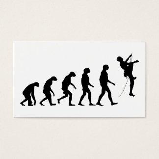 Evolution of Mountain Climbing Business Card